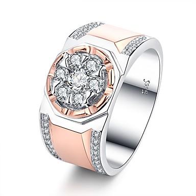Męskie Cyrkonia Band Ring / Pierścionek zaręczynowy - Różowe złoto Vintage, Elegancja 7 / 8 / 9 Różowe złoto Na Ślub / Zaręczynowy / Ceremonia