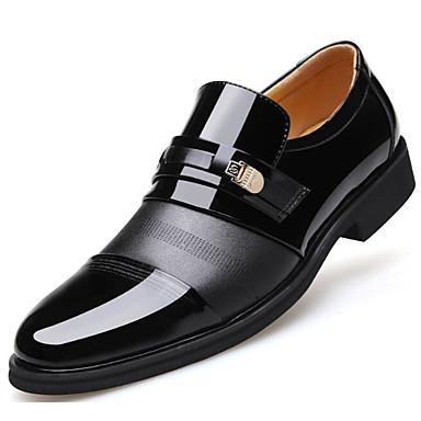 Męskie Komfortowe buty Skóra bydlęca Jesień Mokasyny i buty wsuwane Czarny / brązowy