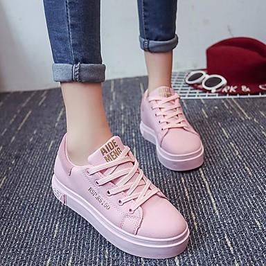 redondo Confort Rosa Mujer de PU Negro Zapatos 06693955 Primavera Zapatillas Dedo Plano deporte Tacón xxagFq