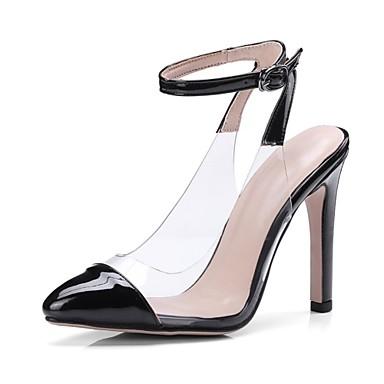 Rouge Verni Talon Escarpin Printemps Talons Chaussures Chaussures pointu 06739525 à Beige Aiguille Noir été Femme Basique Cuir Bout qfacBE