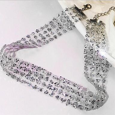 Pentru femei Cristal Coliere Choker - Αστέρι Simplu, Iluminată Draguț, Cool Auriu, Argintiu 6 cm Coliere Bijuterii 1 buc Pentru Cadou, Zilnic
