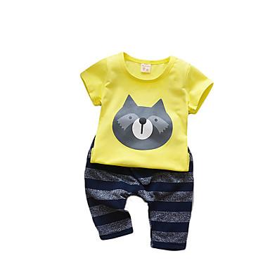 Bebelus Băieți Activ Imprimeu Manșon scurt Bumbac Set Îmbrăcăminte / Copil