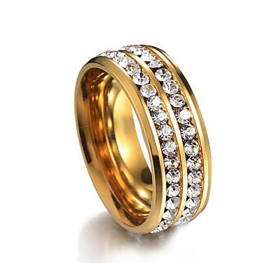 Pentru cupluri Zirconiu Cubic Lantul de tenis Band Ring - Placat Auriu Simplu, European, Modă Auriu Pentru Petrecere / Zilnic