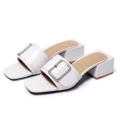 Chaussures 06769639 Nappa Bottier Confort Eté Blanc Femme Noir Sandales Cuir Talon Pgqvd