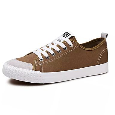 Men's Canvas / Gray Fabric Fall Comfort Sneakers Black / Gray / / Khaki 525cf4