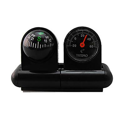 voordelige Auto-interieur accessoires-auto kompas met thermometer bel auto decoratieve zak bal voertuig gedragen type wijzende gids