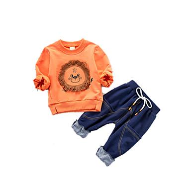 Bebelus Băieți Imprimeu Manșon Jumate Set Îmbrăcăminte