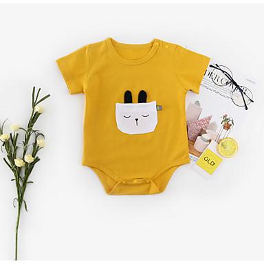 Bebelus Băieți Imprimeu Mânecă scurtă bodysuit