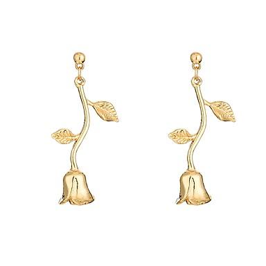 Pentru femei Cercei Stud Cercei Picătură - Floare Simplu, Elegant Auriu Pentru Petrecere Zi de Naștere Ceremonie