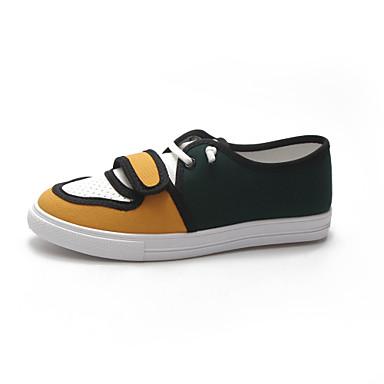 Pentru femei Pantofi PU Primavara vara Confortabili Adidași Plimbare Toc Drept Vârf rotund Alb / Galben / Rosu