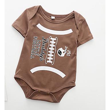 Bebelus Unisex Imprimeu Mânecă scurtă bodysuit