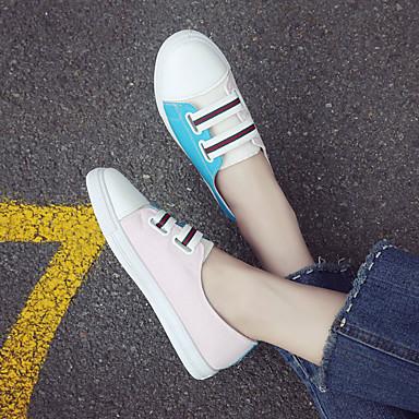 06755922 Verano Confort PU Zapatillas Mujer redondo Zapatos Rojo Negro Plano Tacón Azul Dedo deporte de BxpwE6wq