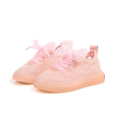 Fete Pantofi Tul Primavara vara Confortabili Adidași Dantelă pentru Galben / Verde / Roz