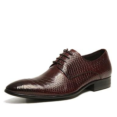 Bărbați Pantofi de confort Piele Primăvară Oxfords Negru / Maro