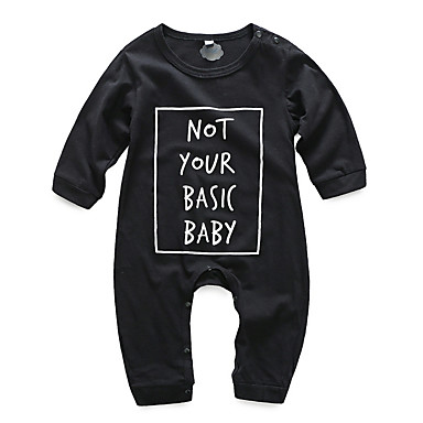 Bebelus Băieți Activ Imprimeu Manșon Lung O - piesă