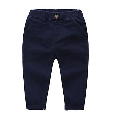 Copil Băieți De Bază Zilnic Mată Bumbac / Poliester Pantaloni Bleumarin 100