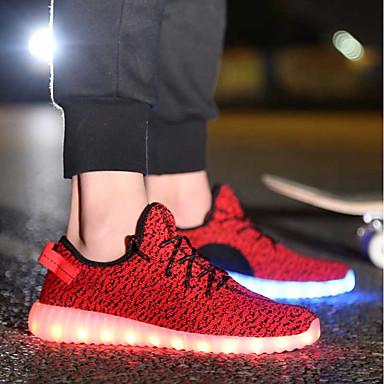 Femme Printemps Rouge Basket Talon Noir Plat Lumineuses Chaussures Marche Chaussures 06717681 Gris été Confort Tulle qrrCwB