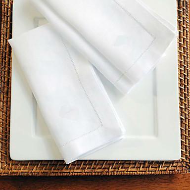 Clasic Bumbac Pătrat Tăblițe masă Mată Decoratiuni de tabla 12 pcs