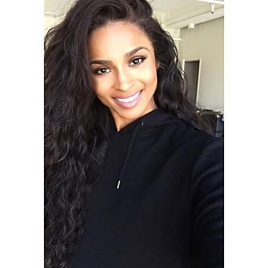 Păr Remy Față din Dantelă Perucă Păr Brazilian Ondulat Perucă Frizură în Straturi 130% Densitatea părului cu păr de păr Linia naturală de păr Negru Pentru femei Lung Peruci Păr Uman Aili Young Hair
