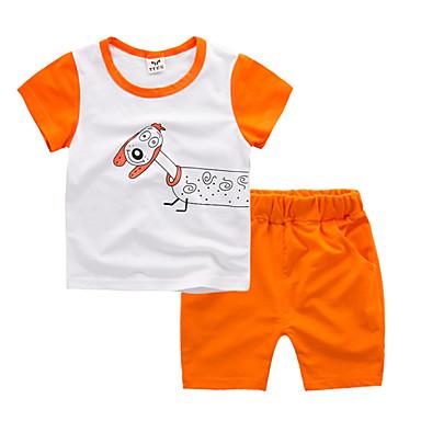 Copii Băieți Imprimeu Manșon scurt Set Îmbrăcăminte