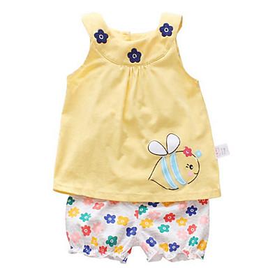 77e50f43257a1 رخيصةأون ملابس الرضع-مجموعة ملابس بدون كم طباعة رياضي Active للفتيات طفل    طفل صغير