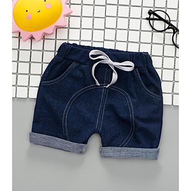 Bebelus Băieți Șic Stradă Mată Bumbac Pantaloni Bleumarin 100 / Copil