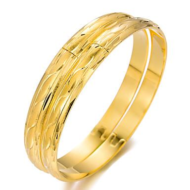 voordelige Dames Sieraden-2pcs Dames Bangles Cuff armbanden Sculptuur Dames Etnisch Verguld Armband sieraden Goud Voor Feest Lahja