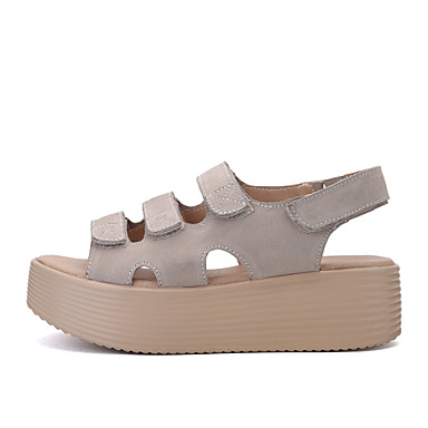 Gris Femme Noir Creepers Printemps Confort Chaussures Daim été 06717653 Sandales 8wq8ZFrx