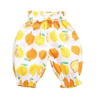 Bambino Da Ragazza Moda Città Frutta Cotone Pantaloni Giallo - Bambino (1-4 Anni) #06737428 Medulla Benefico A Essenziale