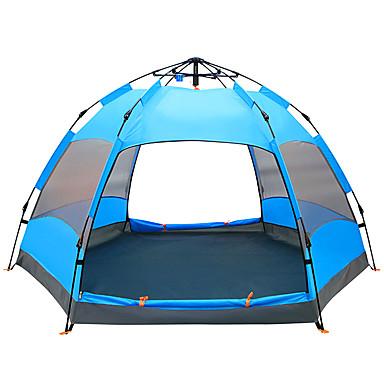 TANXIANZHE® 8 أشخاص أوتوماتيكي الخيمة في الهواء الطلق مقاوم للماء مكتشف الأمطار مكتشف الرطوبة طبقات مزدوجة أوتوماتيكي القبة خيمة التخييم 1500-2000 mm إلى المشي لمسافات طويلة تخييم السفر شبكة PU