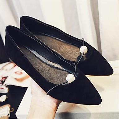 Gris Ballerines Bout Kaki été Daim Chaussures Printemps 06770647 Unisexe Talon Confort pointu Noir Plat Perle UBAFqw17n