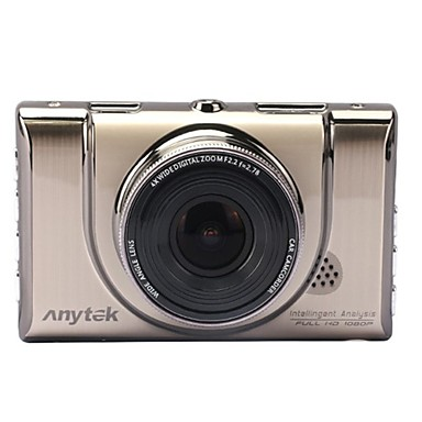 Anytek A100+ 1080p Vedere nocturnă / Dual Lens Car DVR 170 Grade Unghi larg 3 inch Dash Cam cu G-Sensor / Detector de Mișcare / / WDR