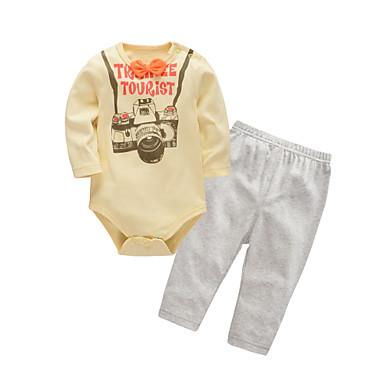 Bebelus Unisex Imprimeu Manșon Lung Set Îmbrăcăminte