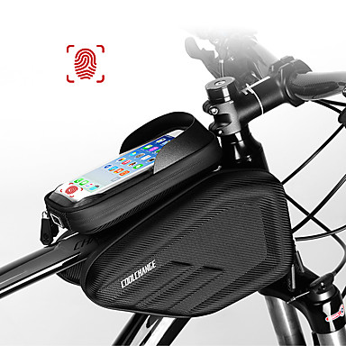 CoolChange Cell Phone Bag / Bike Frame Bag 6.0/6.2 inch Touch Screen, Waterproof Cycling for Cycling / iPhone X / iPhone XR Black