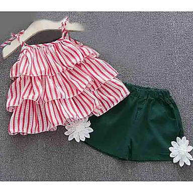 Bebelus Fete Activ Dungi Fără manșon Set Îmbrăcăminte / Copil