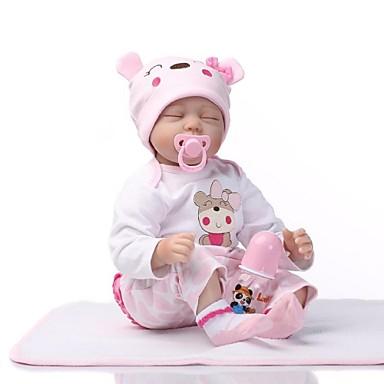 NPKCOLLECTION NPK DOLL Yeniden Doğmuş Bebekler Kız Bezi Kız Bebeklerin 22 inç Silikon - Yeni doğan canlı Tatlı Hediye Çocuk Kilidi Non Toxic Kid Unisex / Genç Kız Oyuncaklar Hediye