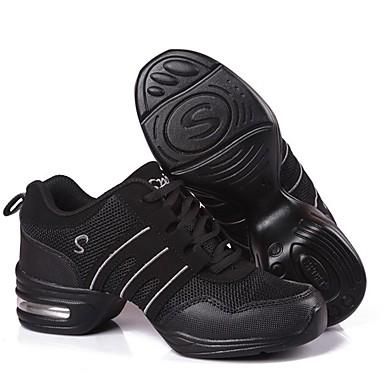 baratos Shall We® Sapatos de Dança-Mulheres Sapatos de Dança Sintéticos Tênis de Dança Recortes Têni Salto Grosso Personalizável Preto e Dourado / Preto / Vermelho / Preto / Branco / Ensaio / Prática / EU40