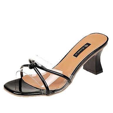 Talón Verano Cuadrado Negro PU Zapatos Tacón Almendra Beige Sandalias Descubierto 06722946 Mujer q47t0Ewx