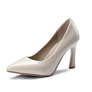 Tacón Zapatos Pump Puntiagudo 06735606 Mujer Cuadrado PU Negro Básico Rojo Dedo Tacones Beige Primavera verano Hdx0qUgw