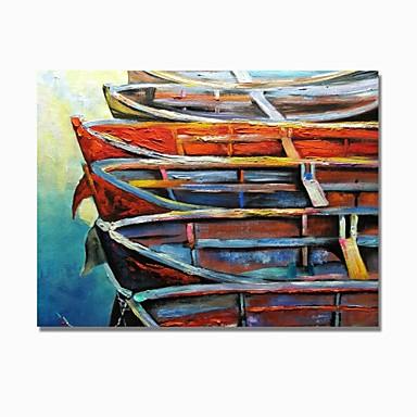 Hang-pictate pictură în ulei Pictat manual - Abstract / Peisaj Contemporan / Modern pânză