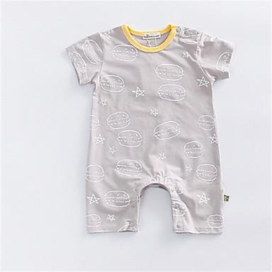Bebelus Fete De Bază Mată Mânecă scurtă Poliester O - piesă Gri 90 / Copil