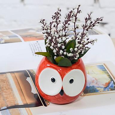 Flori artificiale 20 ramură Clasic Desen animat Prună Față de masă flori