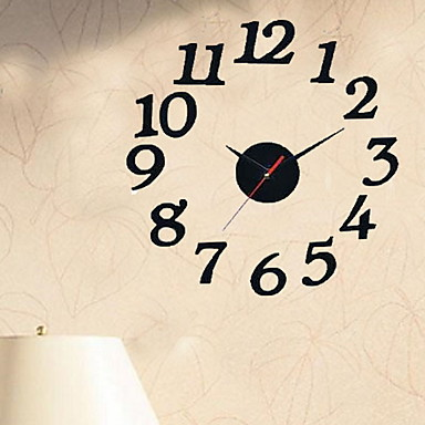 Modern / Contemporary Plastic Round Indoor,AA Batteries Powered Wall Clock
