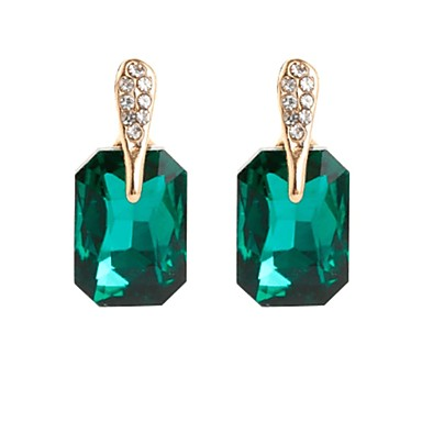 Pentru femei Cristal Cercei Stud - Plin de graţie, Simplu, Vintage Negru / Verde / Roz Pentru Petrecere Cadou