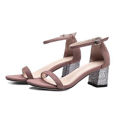 Bout Daim 06770585 Sandales Talon Femme Chaussures ouvert Bottier Paillette Rose Noir Eté Confort 5wxgx0H7q