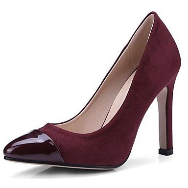 Primavera Stiletto Mujer Ante Tacones Tacón Wine Caqui abierta Confort 06766566 Puntera Negro Hebilla Zapatos nSnYAxrE