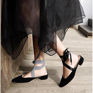 Talon Eté Chaussures Noir 06764263 Bout Daim Sabot Rose amp; Mules Femme Bas fermé Confort Blanc 0STwEqq
