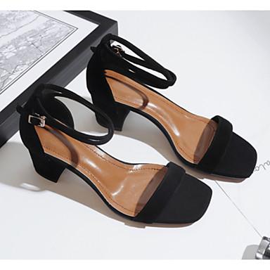 Rose Talon Soirée Eté Chaussures amp; Noir Confort Bottier Daim Bout ouvert Femme 06766527 Sandales Boucle Evénement w7xRqPAnX