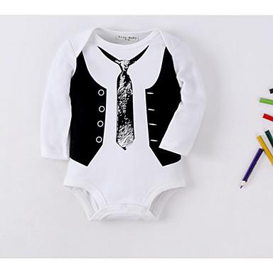 84ab826dc02 Μωρό Αγορίστικα Βασικό Καθημερινά Μονόχρωμο / Συνδυασμός Χρωμάτων Βασικό  Μακρυμάνικο Βαμβάκι / Πολυεστέρας Ένα Κομμάτι Λευκό