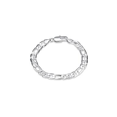 voordelige Herensieraden-Heren Armbanden met ketting en sluiting Wide Bangle Hol Eenvoudig Vintage Koper Armband sieraden Zilver Voor Dagelijks Werk / Verzilverd
